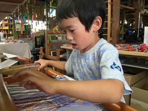 手織り体験―お子様編