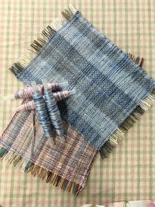 手織り体験の作品